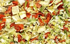 dehydrated vegetables and fruits